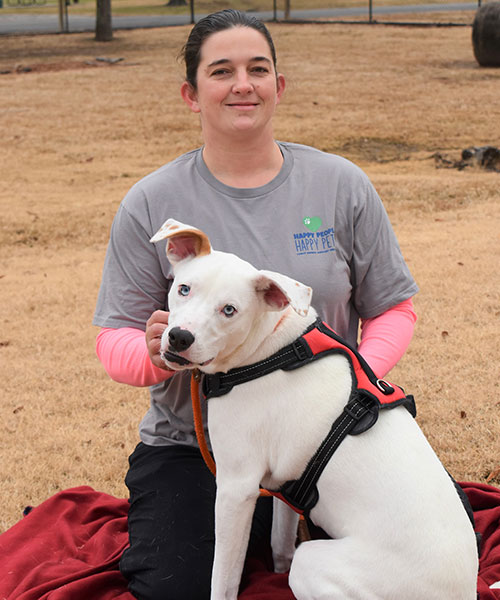 Sarah Gateley - Pictured with personal dog, Rook